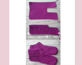 Crochet easy peasy adult slippers sizes 6-12 slipper socks instant download PDF present gift craft shows