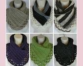 Crochet scarf pattern neck warmer Lacey Charma PDF instant download present gift craft shows neck warmer MI designer