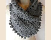 19 colors! Crochet scarf neck warmer womens gift present adult size MI designer