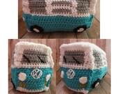 18 colors! Crochet Volkswagen Bus VW gift present stuffed toy