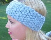 Crochet puff headband wrap adult PDF Instant Download pattern gift present