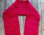 Crochet puff scarf pattern PDF instant download present gift craft shows MI designer