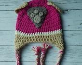 Crochet Skye Paw Patrol hat mitten set toddler child PDF Pattern Instant Download gift present