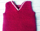 Simple crochet toddler boy vest 3T 4T PDF instant download vest present gift MI designer