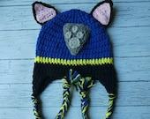 Crochet Chase Paw Patrol hat mitten set toddler child PDF Pattern Instant Download gift present