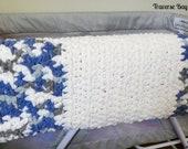 Easy crochet baby blanket pattern beginner PDF instant download present gift baby shower warmer MI designer
