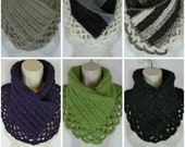 Crochet lacey Charma neck warmer scarf pattern PDF instant download present gift craft shows neck warmer MI designer