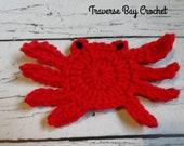 Crochet crab applique pattern 2 versions PDF Instant download