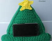 Crochet phone stand tablet iPad stand christmas tree PDF Pattern Instant Download kid toy gift present