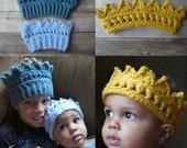 Crochet crown pattern headband baby, toddler, child, teen, adult PDF instant download present gift craft shows MI designer