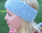 Crochet puff headband wrap adult PDF Instant Download pattern gift present