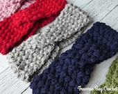 Crochet twisted bean headband adult pattern PDF Instant Download gift present
