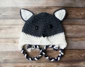 Crochet woodland wolf hat braided earflap pattern baby toddler child adult PDF instant download present gift craft shows MI designer