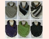 9 colors! Crochet textured lace neck warmer scarf MI designer gift present