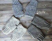 Crochet Fingerless Up North Mitten Glove Pattern PDF Instant Download Adult textured