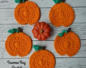 Crochet pumpkin coasters Pattern PDF Instant Download Fall decor easy