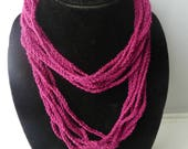 Crochet simple chain necklace pattern adult PDF Instant Download gift present
