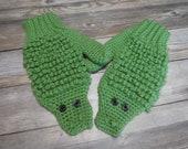 Alligator mittens adult fun novelty animal mittens gift present handmade MI designer