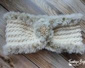 Crochet Elegant Faux Fur headband pattern PDF instant download present gift craft shows MI designer