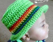 Crochet St. Patricks Day rainbow hat pattern baby, toddler, child, adult PDF instant download present gift craft shows