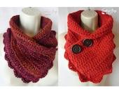 Crochet Simple Shell neck warmer scarf pattern PDF instant download present gift craft shows neck warmer MI designer
