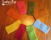 18 colors! Crochet textured adult headband gift present