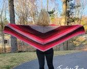 Crochet shawl wrap pattern PDF instant download present gift craft shows MI designer