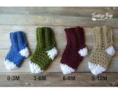 Crochet baby socks easy simple pattern PDF 0-3m 3-6m 6-9m 9-12m instant download present gift baby shower MI designer