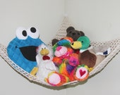 Crochet storage toy hammock net PDF Instant download pattern kids room