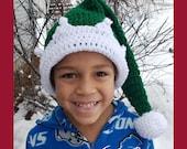 Crochet Family Elf hat pattern 0-6M, 6-12M, toddler, child, adult 5 sizes PDF instant download MI designer