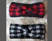 Crochet Plaid Twist Headband Pattern Toddler Child Adult PDF instant download MI designer