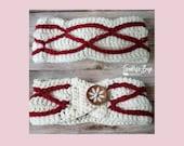 Crochet winter waves headband pattern PDF instant download present gift craft shows MI designer