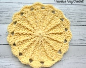Crochet dishcloth Sunny Day PDF Pattern Instant Download kitchen gift present