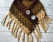 Simply Devine crochet neck warmer fringe scarf pattern PDF instant download present gift craft shows MI designer