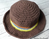 Little Man Crochet Sunhat 5 sizes baby, child Sunhat Pattern Set Quick Simple Easy PDF Instant Download Gift Present Baby Shower