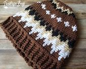 Crochet Bernie Sanders beanie pattern inspired PDF instant download MI designer