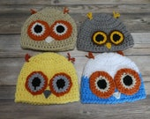 Newborn baby hat beanie owl bird gift present baby shower
