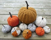 Country Farm Crochet Pumpkin decor pattern 3 sizes PDF instant download present gift craft shows