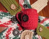 Coffee Tea Mug Cozy crochet pattern PDF Instant Download gift present craft shows