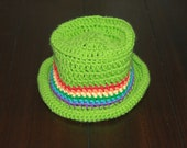 Crochet baby rainbow sun hat 12-24M St. Patrick's Day gift present handmade MI designer