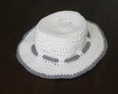 Crochet baby sun hat 12-24M gift present handmade MI designer