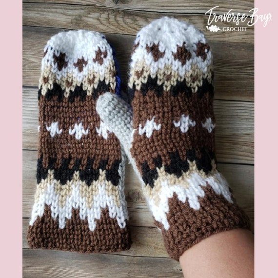 Crochet Bernie Sanders mittens pattern inspired PDF instant