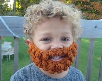 19 colors! Crochet beard baby child Toddler Adult novelty funny gift present unisex
