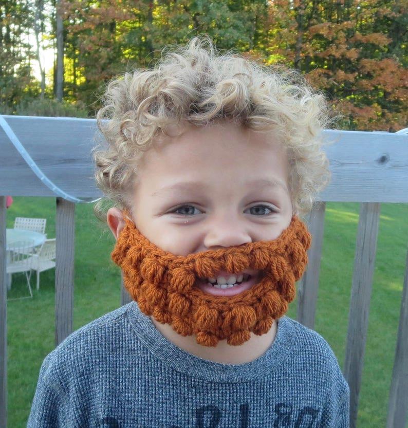 27 colors Crochet beard baby child Toddler Adult novelty image 0