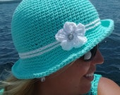 Crochet elegant sun hat pattern baby toddler child adult sizes PDF instant download present gift craft shows neck warmer MI designer