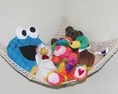 Crochet storage toy hammock net PDF Instant download pattern kids room
