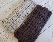 Crochet headband braided cable pattern PDF instant download present gift craft shows MI designer