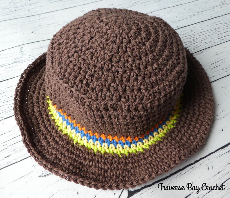 Little Man Crochet Sunhat 5 Sizes Baby Child Sunhat Pattern Etsy