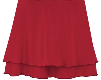 BIO Skirt two-layer - red