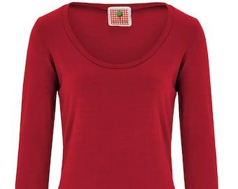 BIO dress - red - long sleeve